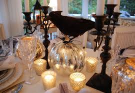 Mercury Glass Home Decor Elegant Halloween Tablescape