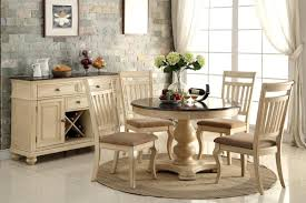 dining table dining space dining sets ivory round extending
