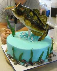 bass fish cake bass birthday cake my bass cake for my s 48th