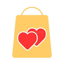 s day shopping shopping bag decorated with heart symbol shopping vector