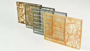 Glass Wall Panels Laminated Glass With Fabric Interlayer Design Glass Tips And