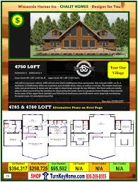 4750 loft e2 wisconsin homes inc modular chalet home plan price