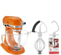 kitchenaid 5qt 300w tilt head stand mixer w glass bowl u0026 flex