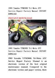 1983 yamaha ytm200 k tri moto atc service repair factory manual insta u2026