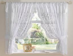 6 styles of white lace curtains