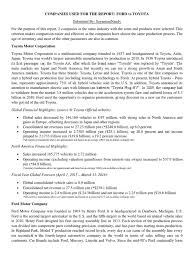lexus financial report 2014 brief financial report on ford versus toyota toyota hybrid