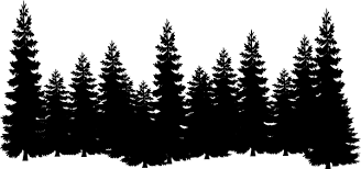 forest shilouettes forest clip vector clip