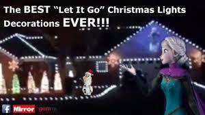 christmas decorations light show amazing disney s frozen let it go christmas house decorations light