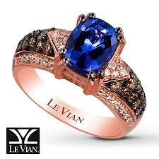 jared levian tanzanite ring 1 2 ct tw diamonds 14k strawberry gold
