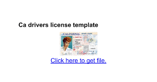 ca drivers license template google docs