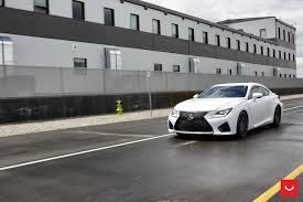 lexus sports car rcf price white lexus rcf on vossen wheels has the look of a cult car
