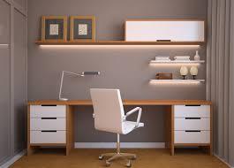 3d study room long desk interior design