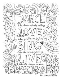 printable page of quotes free coloring book pages for grown ups inspiring quotes