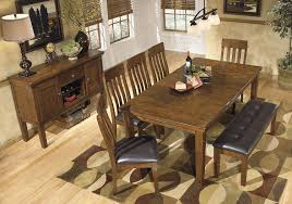 Large Wood Dining Room Table Amazon Com Ashley Furniture D594 00 Dining Bench Large Brown