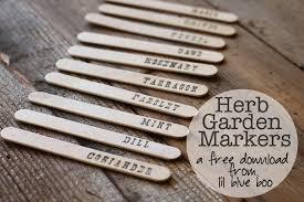 garden markers herb garden markers free