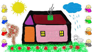 house drawing and painting for children youtube