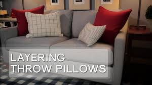 how to choose a couch how to choose throw pillows video hgtv