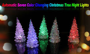 automatic seven color changing unbreakable glass tree led