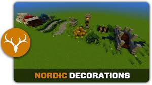 Medieval Decorations by Minecraft Building Tutorial How To Build Nordic Town Decorations