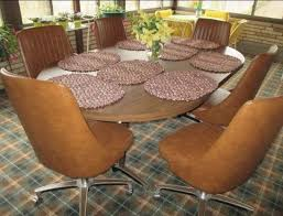 Kitchen Table Swivel Chairs by Chromcraft Vintage Mid Century Modern Dinette Table With 6 Swivel