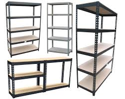 building shelves in garage fascinating metal rack shelving amazing decoration heavy duty
