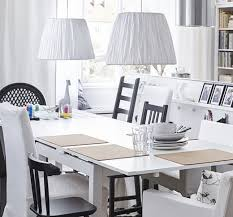 ikea dining room design ideas dark wood floor simple flower
