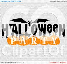 halloween bat no background clipart of a flying bat with halloween party text royalty free