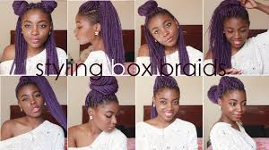 what kind hair use boxbraids how i style box braids 8 quick hairstyles youtube