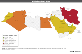 Map Of North Africa And Middle East by Download Index Of Economic Freedom Data Maps And Book Chapters