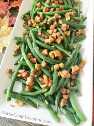 balsamic haricots verts green beans with pancetta thanksgiving