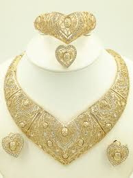 gold plated necklace set images New 2016 fashion dubai gold plated jewelry set 18k luxury nigerian jpg