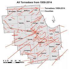 Chicago Area Zip Code Map by Tornado Climatology For Northern Illinois And Northwest Indiana