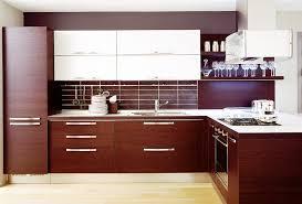 Wooden Modern Kitchen Kitchen Interior Design Stock Images - Modern wood kitchen cabinets