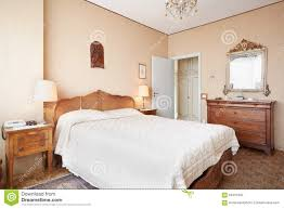 old bedroom with double bed in ancient interior stock photo ancient bed bedroom double house interior italian old