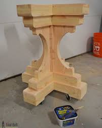 Free Woodworking Plans Build Easy by Farmhouse Style Round Pedestal Table Her Tool Belt