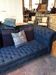 Tufted Upholstered Sofa by Denim Sofa Now This Is A Denim Sofa I Can Get On Board With Abc