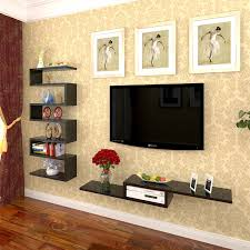 fashion clapboard wall shelf tv wall decoration wall tv set top