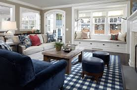 livingroom bench rustic modern living room with bay window bench plus plaid area