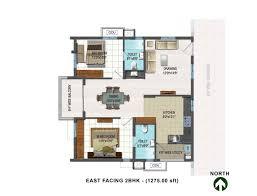 east facing single bedroom house plans bedroom