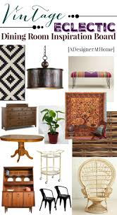 vintage bohemian dining room mood board a designer at home