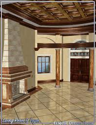 dream home foyer and living room decor eclectic 3d models