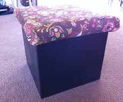 storage cube ottoman cardboard storage cube ottoman 5 steps with pictures
