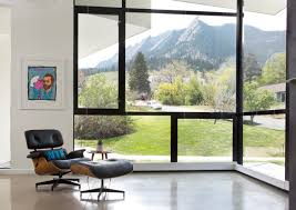 Eames Lounge Chair In Room A Modern House In Boulder Built From Scratch Curbed