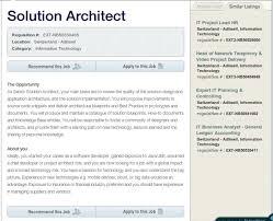 Solution Architect Resume Sample by Solution Architect Zurich English Forum Switzerland