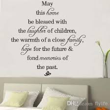 Home Decoration Wall Stickers May This Home Be Blessed Vinyl Wall Decals Quotes Sayings Words