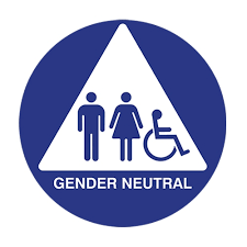 ada gender neutral restroom door sign isa u0026 pictograms white