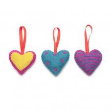 Fabric Heart Decorations Fabric Felt Decorations Hanging Decorations