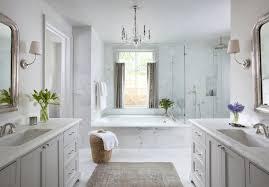 bathroom vanities facing each other transitional bathroom