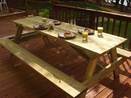 Building A Wood Picnic Table by Woodworking Plans For A Large Picnic Table