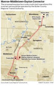 Middletown Ohio Map by Plans Bus Route Connecting Monroe Middletown South Dayton